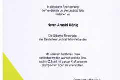 Ehrung Arnold König